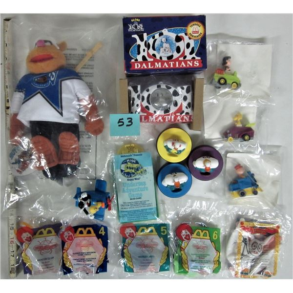 Mixed lot 15 McDonalds Happy Meal toys (11 new, sealed)
