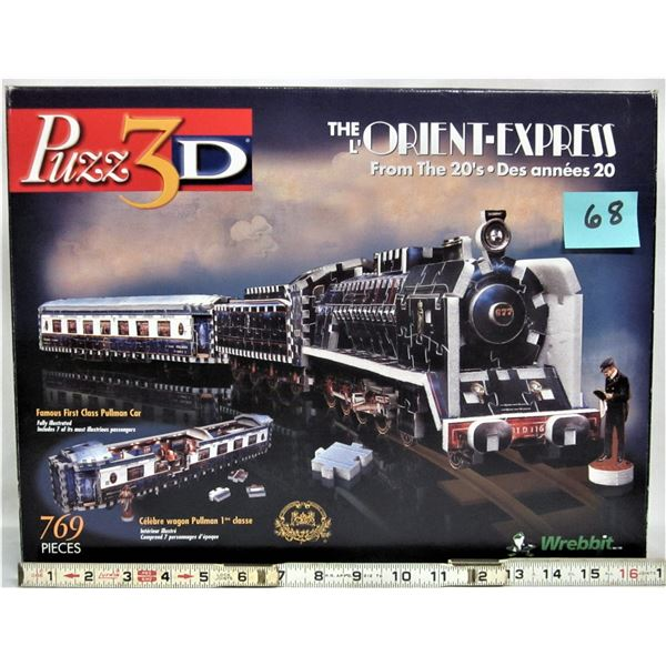 1998 wrebbit puzz 3-D 'The Orient Express' 769 piece 100%