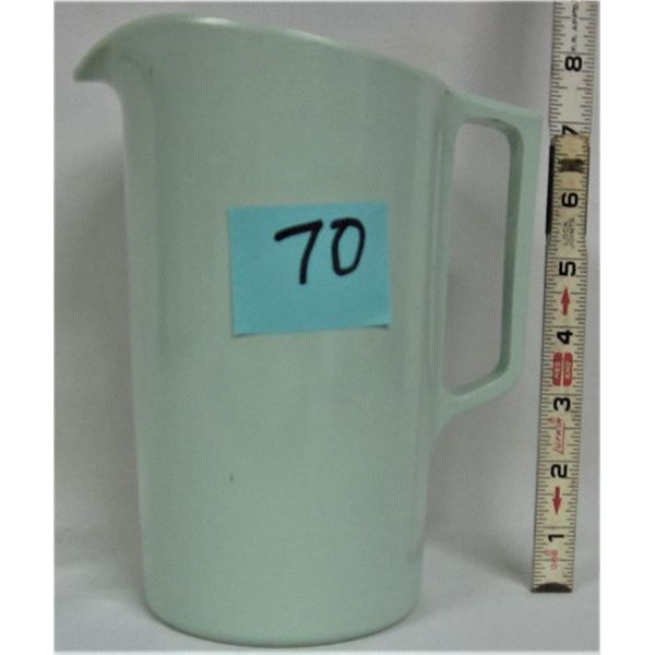 "vintage 8"" pastel green Melmac pitcher"