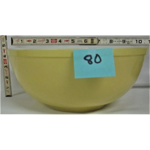 "Vintage 10""W X 4""T Pyrex Large yellow mixing bowl"