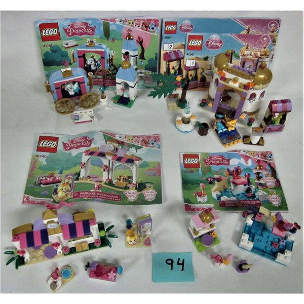 Lot of 4 Disney Princess Lego sets with instructions 100% complete