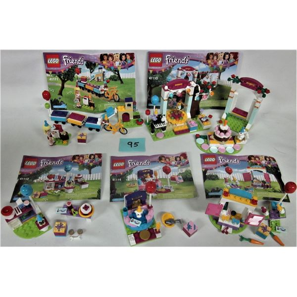 Lot 5 friends 'Girl' Lego sets 100% with instructions