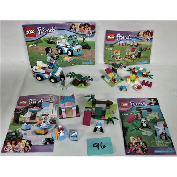 lot 4 friends 'Girl' Lego sets 100% with intructions