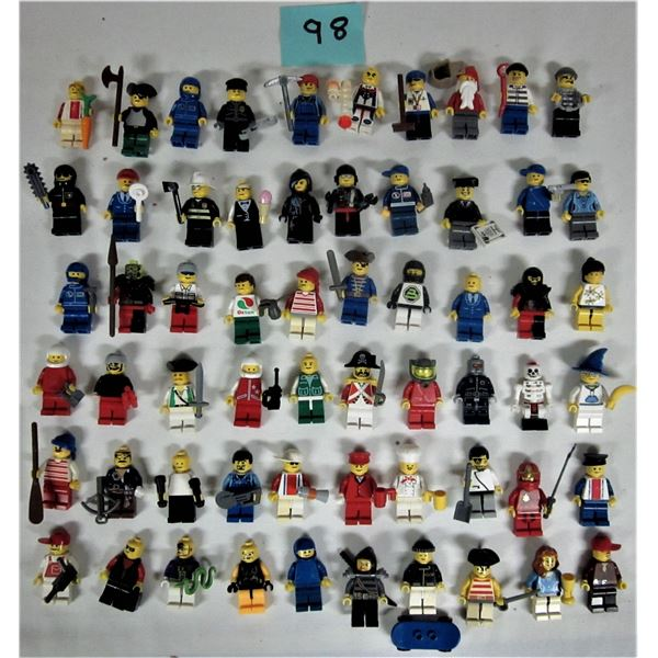 Lot of 60 Lego mini figures & accessories