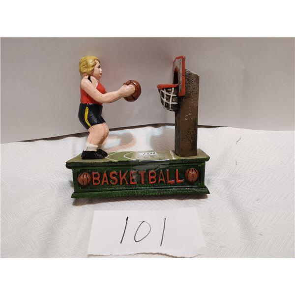 Mechanical basketball piggy bank