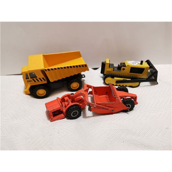 3 construction toys earth movers