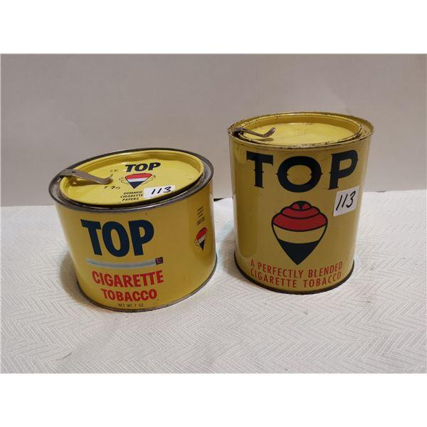 2 Top tobacco tins