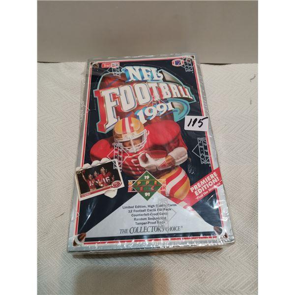 1991 NFL upper deck cards, unopened