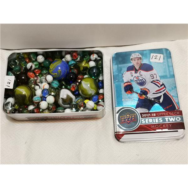tin full of marbles