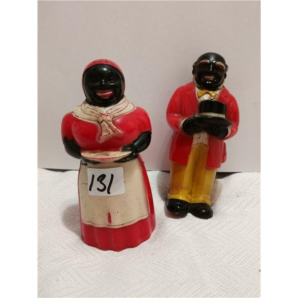 Black Americana Uncle Moses & Aunt Jemima salt & pepper shakers