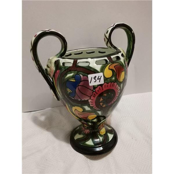 """Vintage 10"""" flower vase"""