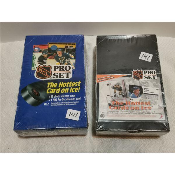 2 full boxes pro set hockey cards, 1990, 1991