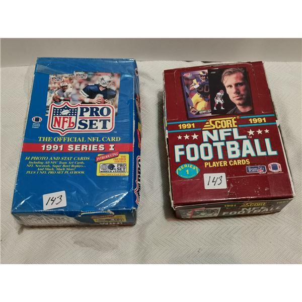 2 full boxes of NFL cards, 1991 Score, 1991 Proset