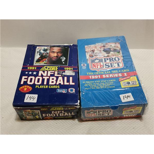 2 full boxes of NFL cards, score & pro set 1991