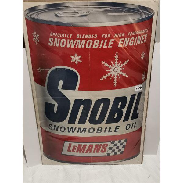 "Snowmobile oil poster, 16"" X 25"""
