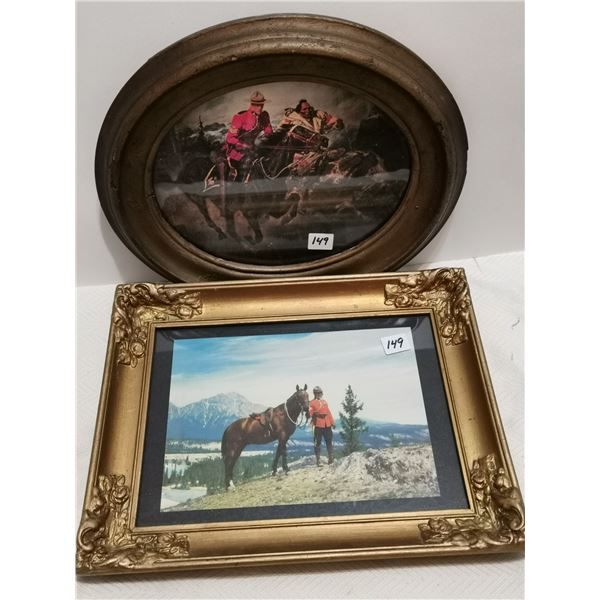 """2 RCMP pictures - 13"""" X 10"""" & 13"""" X 11"""""""