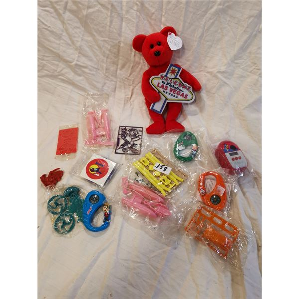 rare beanie baby Las Vegas bear & cereal toys