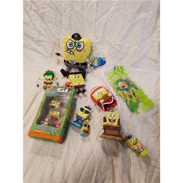 Sponge Bob Christmas toys, etc.