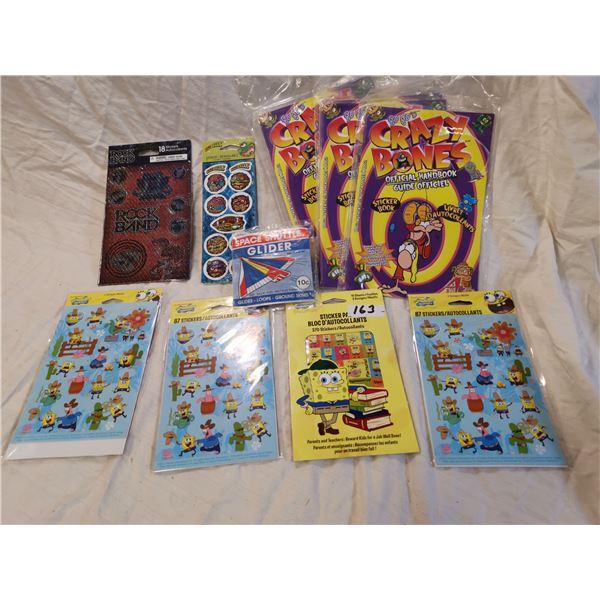 Sponge Bob older stickers & other stickers