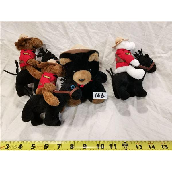 4 RCMP teddy toys