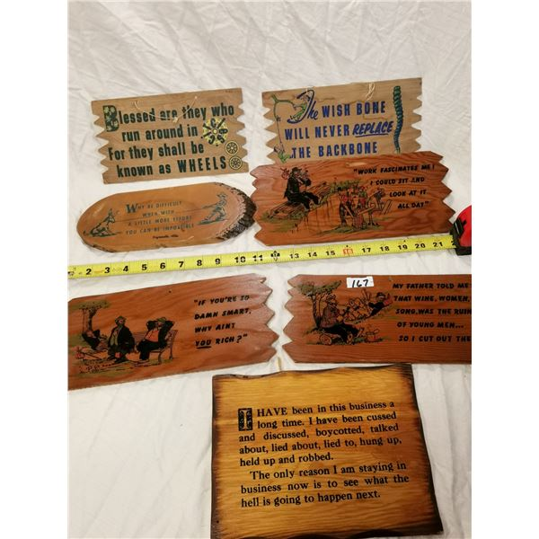 Funny wooden signs