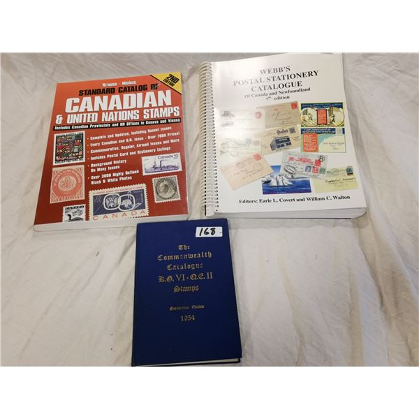 3 stamp collecting books