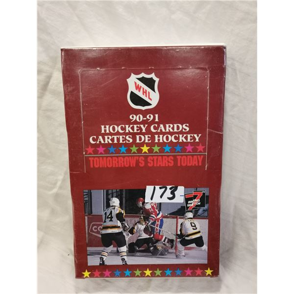 1990-91 NHL cards, full box