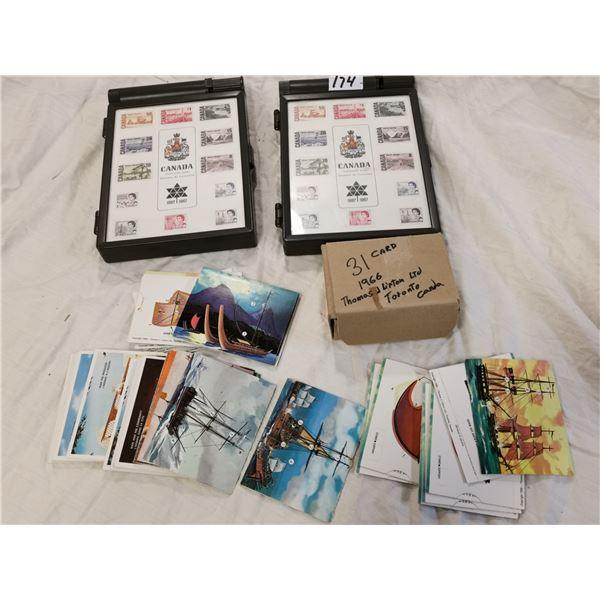 2 Stam box sets & 31 1996 Lipton cards