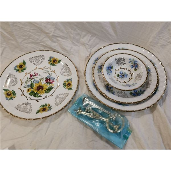 3 tier candy dish & collector plate