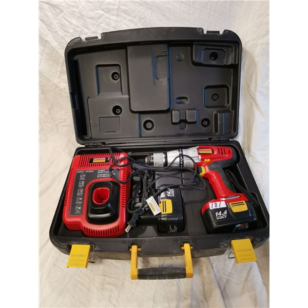 Working good, Craftsman drill with 2 batteries & charger