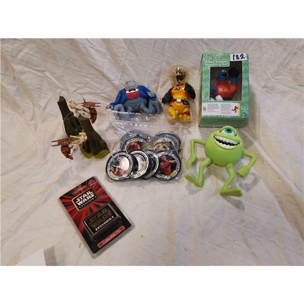 Star Wars, Wrestling coasters, toy lot