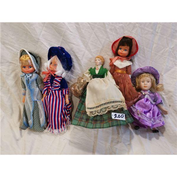 Lot of 5 older dolls