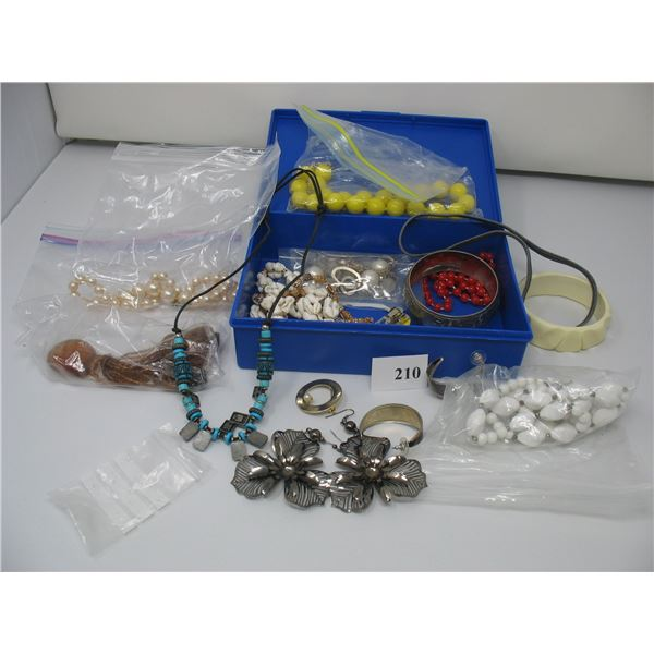 BOX of COSTUME JEWELLRY