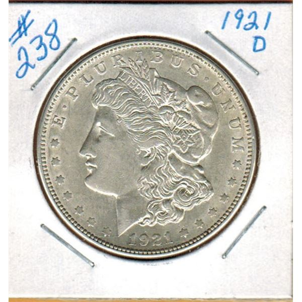 1921 D  UNITED STATES MORGAN SILVER DOLLAR