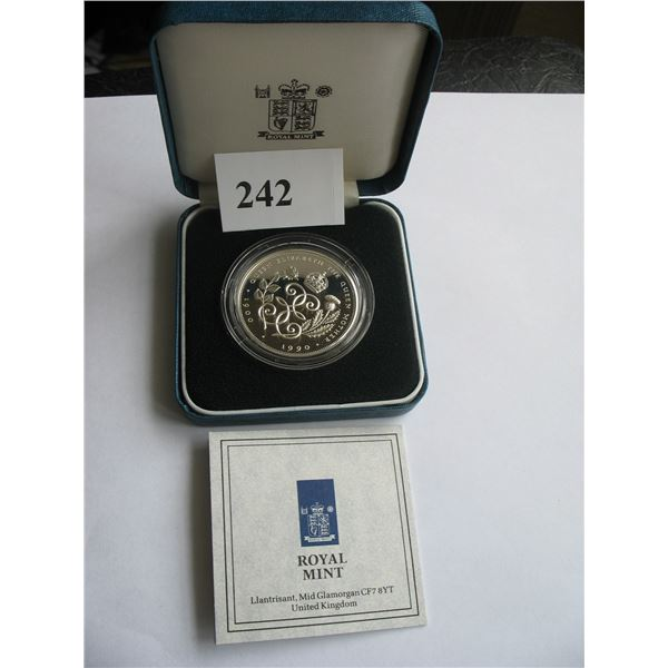1977 CASED GREAT BRITAIN STERLING SILVER CROWN - Queen's Silver Jubilee