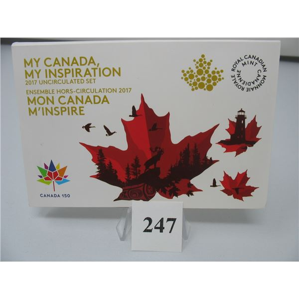 2017 MY CANADA - MY INSPIRATION UNCIRCULATED COIN SET  - Set of 8 Coins - Coloured & NON COLORED