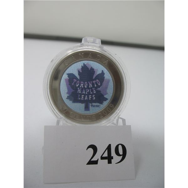 2009 TORONTO MAPLE LEAF 50 CENT COIN - COLOURED - Encapsulated