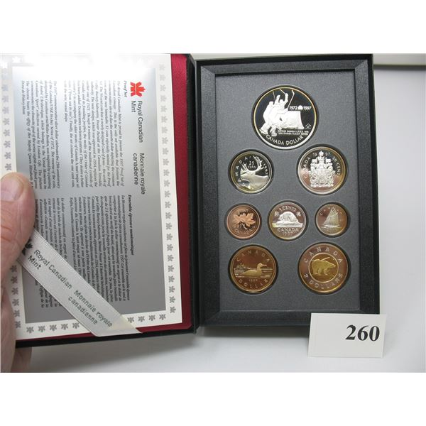 1997 PRESTIGE PROOF DOUBLE DOLLAR SET - Canada Vs USSR Hockey  (Most coins are Sterling)