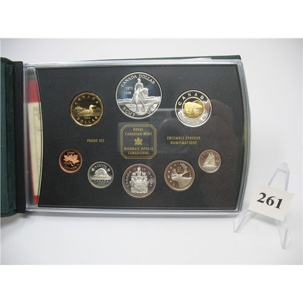 1998 PRESTIGE PROOF DOUBLE DOLLAR SET- RCMP 125th ANNIVERSARY (Most coins are Sterling)