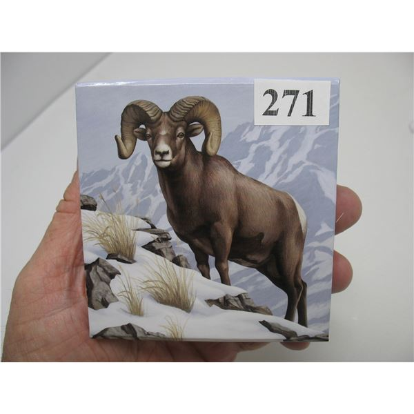 2014  $100 Silver Coin (99.99 Pure) - Two Rocky Mountain Bighorn Sheep