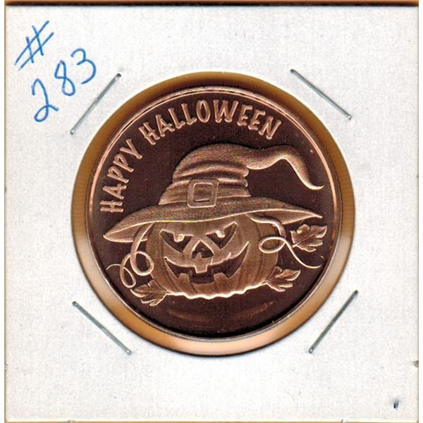 1 OUNCE .999 COPPER - HAPPY HALLOWEEN