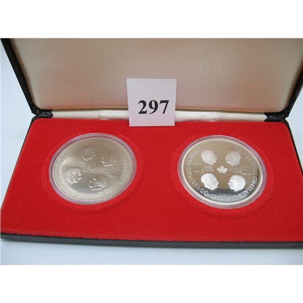 GOVENORS GENERAL MEDALLIONS - 1 is 925 Silver (48.6 gr) the other Copronickel
