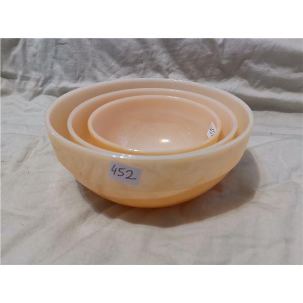 Fire King 3 piece bowl set