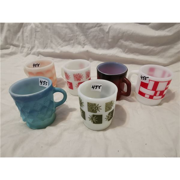 6 Fire King cups