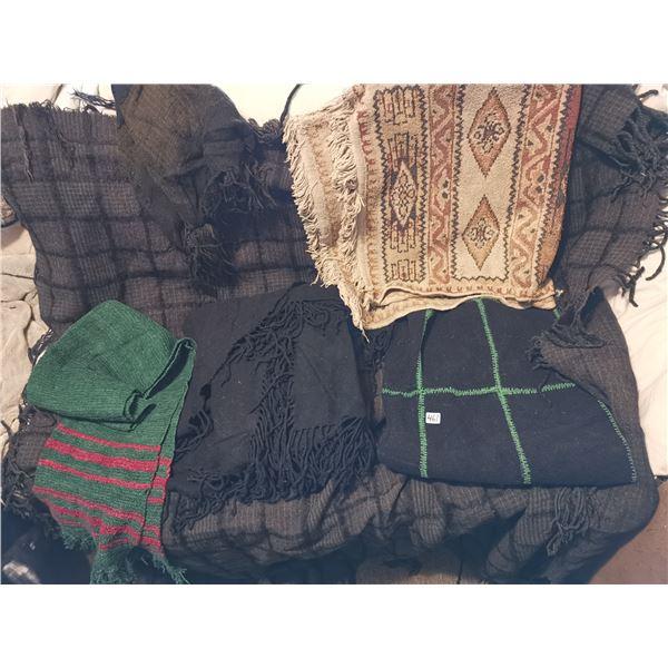 Doukhobor lot - blankets, scard, baba sarf, hat