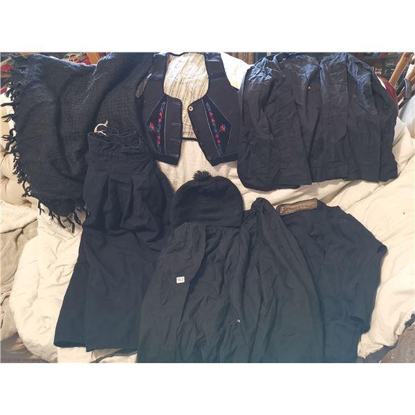 Doukhobor lot - skirts, vest, shirts, toque, shawl