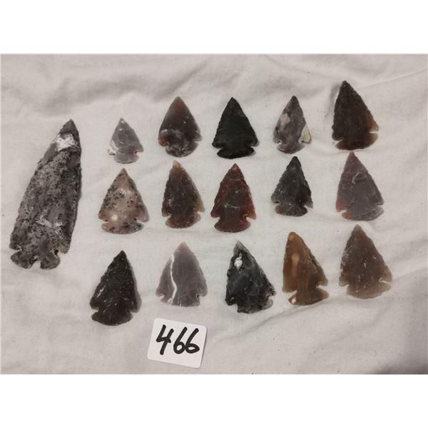 """1 3"""" & 15 1"""" arrowheads"""