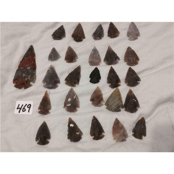 """1 3"""" & 25 1"""" arrowheads"""