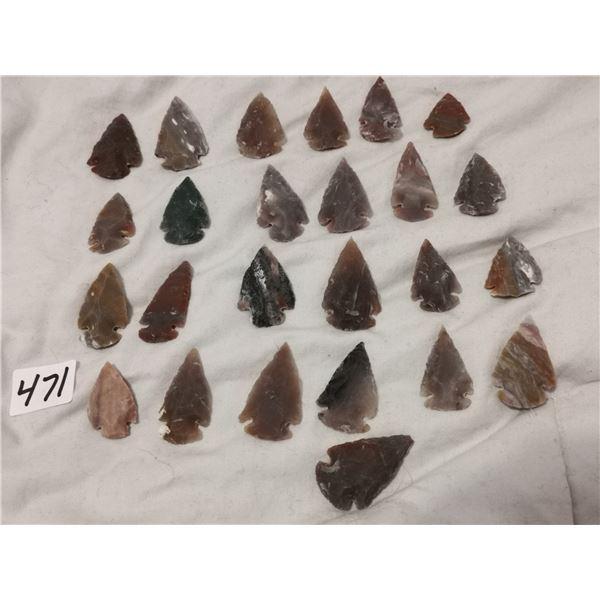 """25 1"""" arrowheads"""