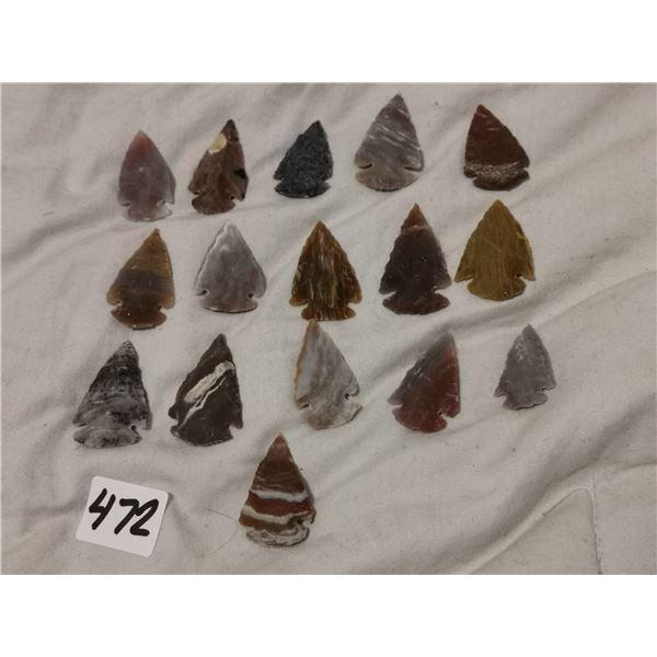 "16 1"" hand chosen arrowheads"